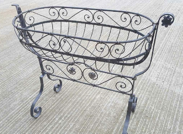 Antique Baby Crib prop